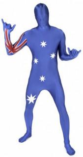 Morphsuit Australien Ganzkörperanzug blau-weiss-rot
