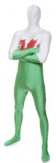 Morphsuit Wales Fanartikel grün-weiss-rot