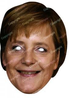 Angela Merkel Maske Pappkarton 40 x 28 cm