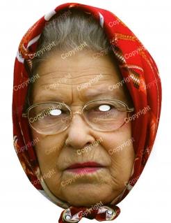 Queen Elizabeth-Erwachsenenmaske Royals mehrfarbig