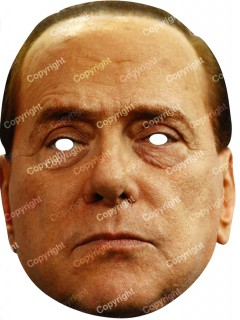 Silvio Berlusconi Maske Pappkarton 29 x 20 cm
