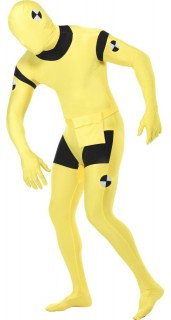 Crash Test Dummy Second-Skin-Suit gelb-schwarz