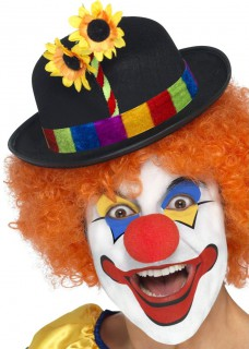 Clown Hut Melone Blume schwarz-bunt