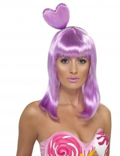Candy Girl Popstar Damenperücke lang flieder