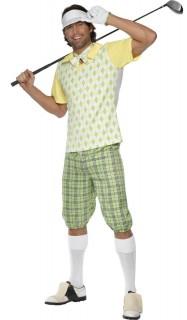 Golfer Karneval-Kostüm gelb-grün