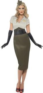 Offizierin Soldatin Armee Damenkostüm khaki-grau