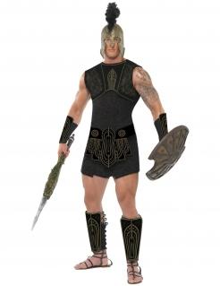 Achill Römer Gladiator Antike Krieger Kostüm schwarz-gold