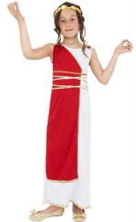 Griechische Göttin Kinderkostüm rot-weiss
