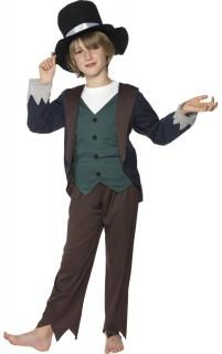 Viktorianischer Straßenjunge Kinder-Kostüm braun-grün