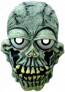 Müdes Skelett Halloween-Maske grün-weiss-schwarz