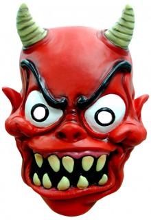 Verrückter Dämon Maske rot