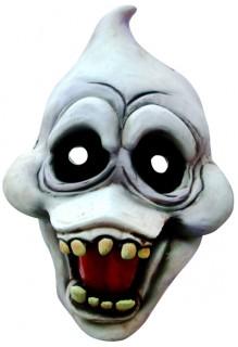 Geister-Maske Schadenfrohes Gespenst weiss-schwarz-rot