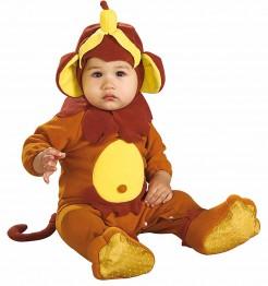 Affe Babykostüm Strampler braun-gelb