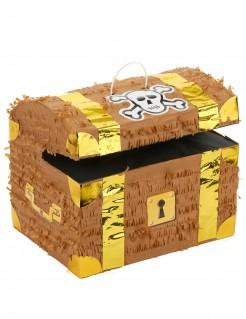 Piñata Schatzkiste Party-Spiel braun-gold 27x30cm