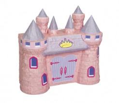 Piñata Schloss Party-Spiel rosa-grau-lila 42x37cm