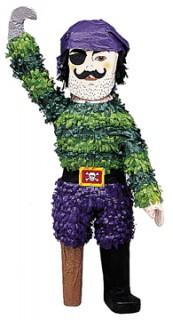 Piñata Pirat Party-Spiel grün-blau 64cm