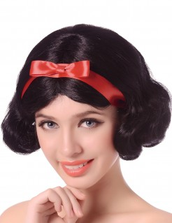 Märchen-Prinzessin Perücke schwarz-rot