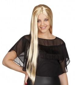 Glatte Langhaar-Damenperücke glänzend blond