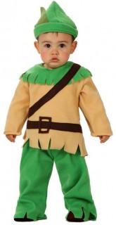 Waldjunge - Babykostüm - grün-beige