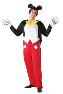Mickey-Kostüm Erwachsene rot-schwarz