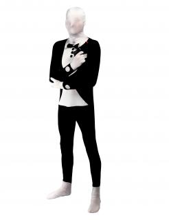 Originelles Zweite Haut Kostüm für Erwachsene schwarz-weiß