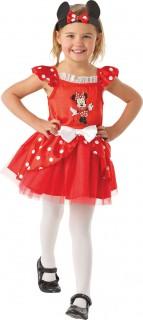 Minnie Maus™-Kinderkostüm Fasching rot-weiss-schwarz