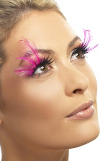 Wimpern Fee Federn pink-schwarz