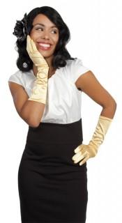 Gala Satin-Handschuhe gold