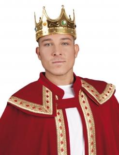 Krone König Königin gold-blau-rot