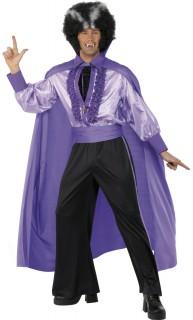 Disco Vampir Dracula Halloween-Kostüm schwarz-lila