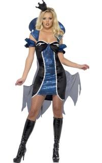 Infernalische Königin der Hölle Halloween Kostüm für Damen schwarz-blau