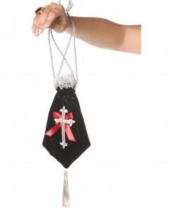 Bijou Boutique Gothic Barock Handtasche schwarz-rot