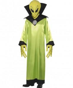 Horror Alien Halloween-Kostüm grün-schwarz