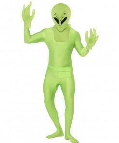 Alien Second-Skin-Suit Science-Fiction Kostüm grün