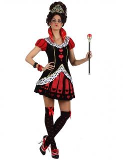 Herzköniginnen-Damenkostüm Alice im Wunderland schwarz-rot