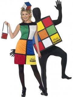 Rubik-Würfel Paarkostüm für Erwachsene bunt