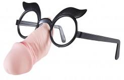 Penis Brille Scherzartikel Spassbrille JGA schwarz-haut