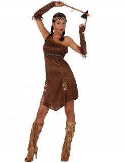 Sexy Indianerin Damenkostüm Kriegerin braun