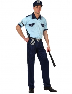 Polizei-Kostüm für Herren blau