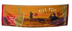 Wilder Westen Banner Party-Deko bunt 220x74cm