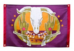 Wilder Westen Flagge Party-Deko bunt 60x90cm