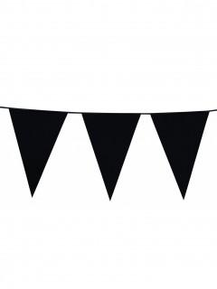 Wimpelgirlande Raumdekoration Partydekoration schwarz 10m