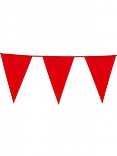 Wimpelgirlande Party-Deko rot 10m
