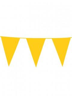 Wimpelgirlande Party-Deko gelb 10m