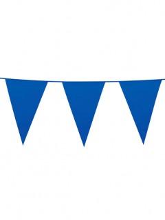 Wimpelgirlande Party-Deko blau 10m