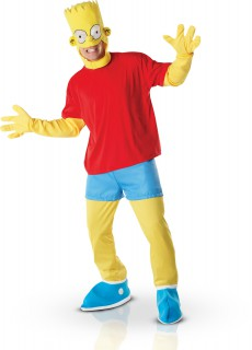 Bart Simpson Lizenzkostüm Deluxe gelb-rot-blau