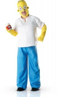Homer Simpson Lizenzkostüm Deluxe blau-weiss