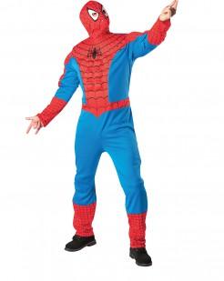 Spiderman-Herrenkostüm mit Muskeltorso Marvel-Lizenzkostüm rot-blau