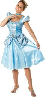 Cinderella Disney Damenkostüm Prinzessin Lizenzware hellblau