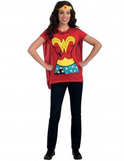 Wonder Woman Erwachsenen-Kostüm rot-gelb